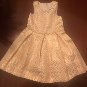 Gorgeous Tahari Toddler Rose Gold Dress